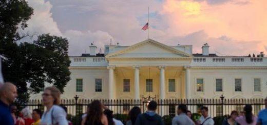 又有人想翻进白宫 这次特朗普在里面