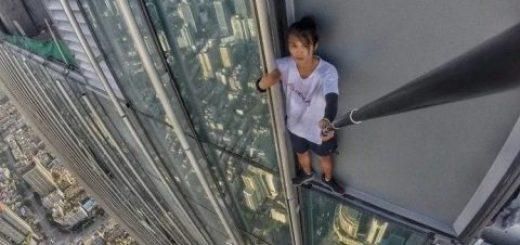 """263米高楼自拍赚钱 中国""""高空极限运动第一人""""失手坠亡"""