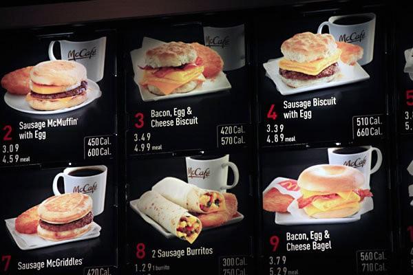 奥巴马健保法又一规定生效: 商家必须标明饮食卡路里含量