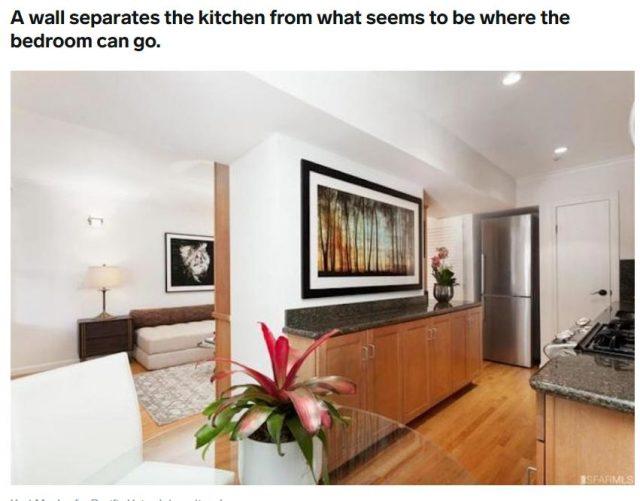 旧金山这栋385平方尺的没有卧室的房子售价居然要50万美金!