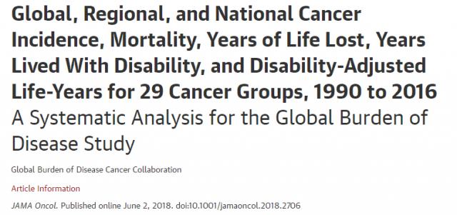 肿瘤:《JAMA》子刊最新数据,十年间全球癌症病例又增加了28%!