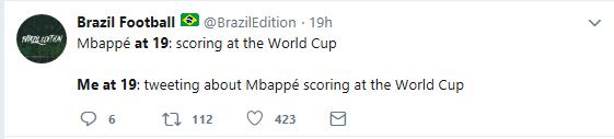 19岁的姆巴佩叱咤世界杯,19岁的我在家烂醉如泥!