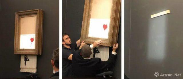 """震惊艺术界!拍卖槌刚落 英艺术家""""自毁""""900万名画"""