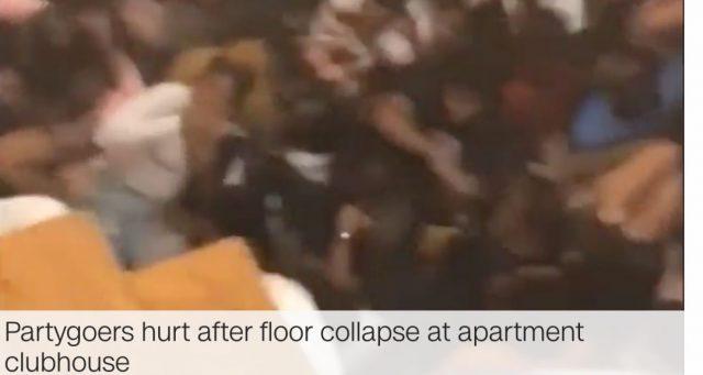 又一次!美国大学生蹦迪把楼板蹦穿,坠下一层楼致30人受伤!