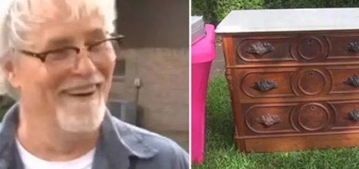 德州69岁退役军人100美元买下19世纪古董柜,却意外发现大玄机....
