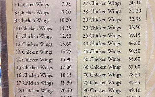 美国中餐馆鸡翅定价引热议 数万网友欲解数学谜题
