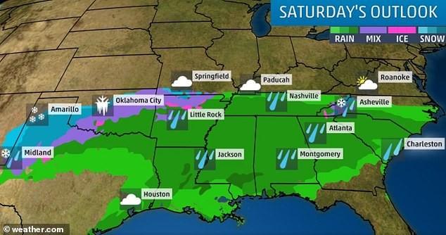 冬季风暴继续侵袭南部平原 北卡、维州周末降雪或超1英尺