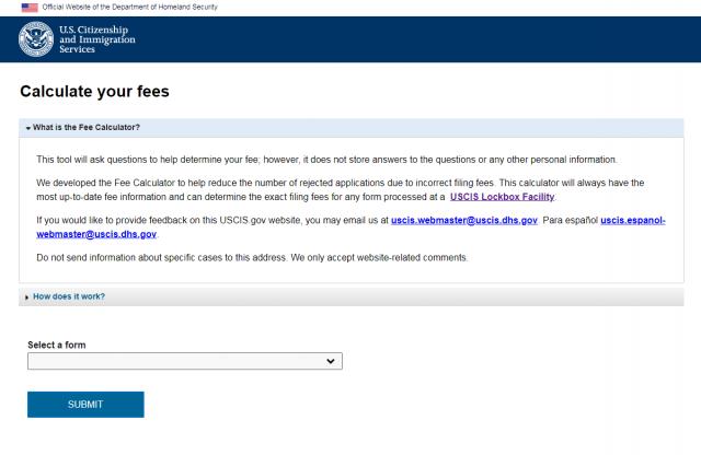 移民局推出新款在线费用计算器 减少费用算错被拒情况
