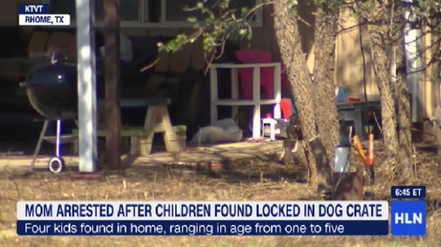 得州警方发现4名营养不良的儿童,竟有2名被锁在狗笼里