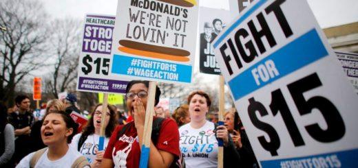 最低时薪涨至15元将使1700万人受益 但130万人将失业