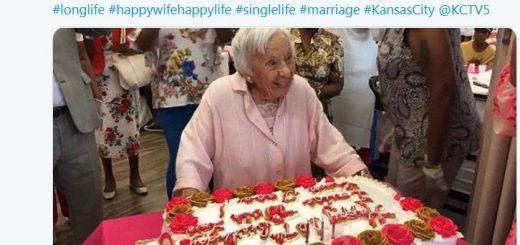 纽约老太庆107岁生日 她的长寿秘诀你绝对想不到!