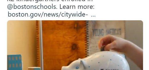 鼓励投资教育 波士顿奖励每名公立幼儿园学生50元储蓄