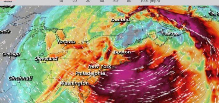 炸弹气旋携风雨袭东北:数十万户停电 航班受影响