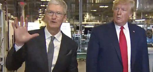特朗普参观德州Mac工厂 称赞苹果是美国成功典范