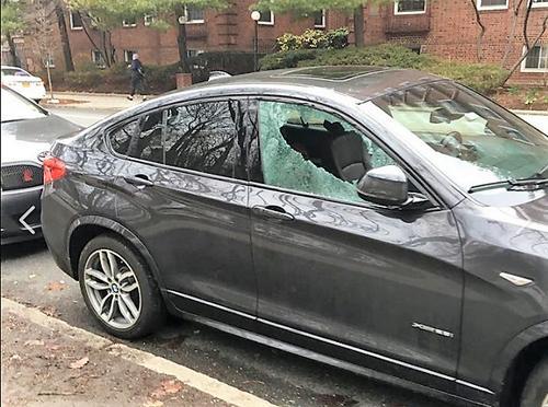 洛杉矶一华人三个月车窗两次被砸 损失近万美元