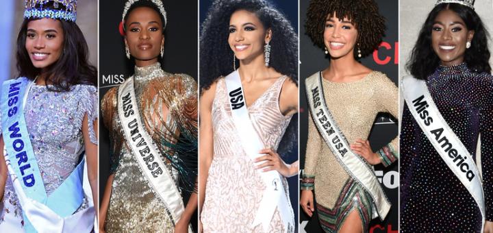 首次!世界五大顶尖选美比赛冠军都是非裔