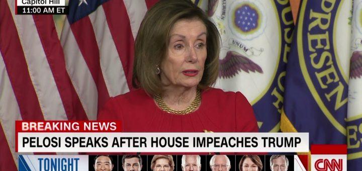 佩洛西拒谈弹劾案何时送参院 川普批她心虚