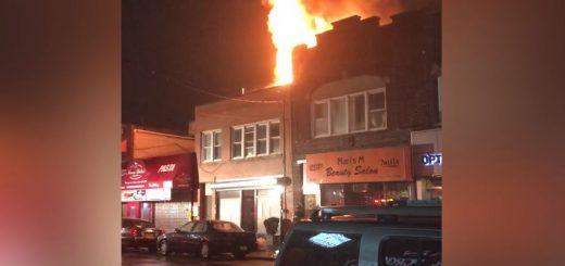 纽约大学点华人房屋起火 连累华人商家