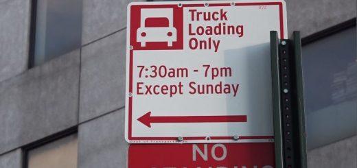 这些地方货车专用私车禁停! 纽约法拉盛增卸货点