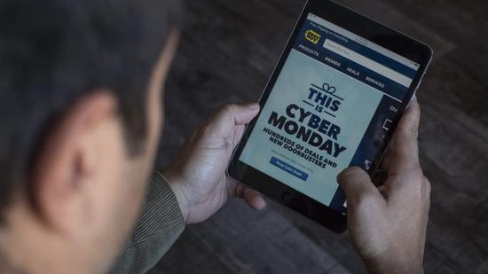 """美国""""网络星期一""""线上销售额创94亿美元新高 同比增长近20%"""