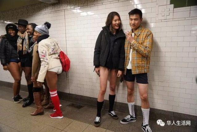 """脱!脱!疯狂脱!全美""""无裤日""""入乡随俗,撤掉裤子的华人真美"""