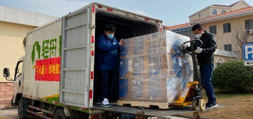 """打通""""绿色""""通道 绿地集团全程助在美华人防疫物资捐赠上海"""
