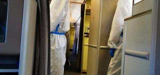 华人夫妻疑吃退烧药登机落地天津 致全机近200人隔离
