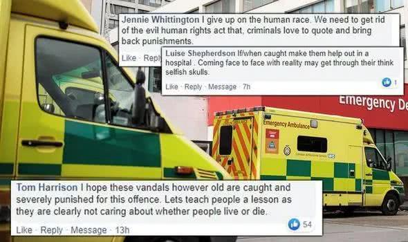 丧心病狂!疫情肆虐,英国暴徒却割破6辆救护车轮胎引众怒