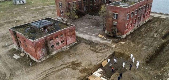 纽约惊人一幕,无人机拍到壕沟集体埋葬,多个公园成临时坟场