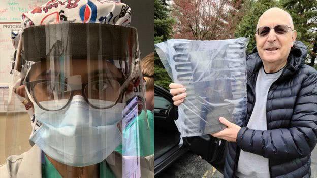 用比萨烤炉做面具,找中国朋友买口罩——美国人为帮助医院也够拼