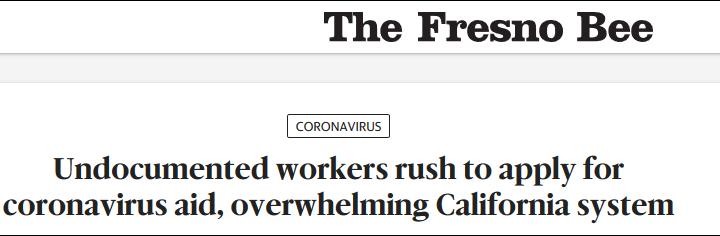 加州发放非法移民补助,第一天系统就崩了…