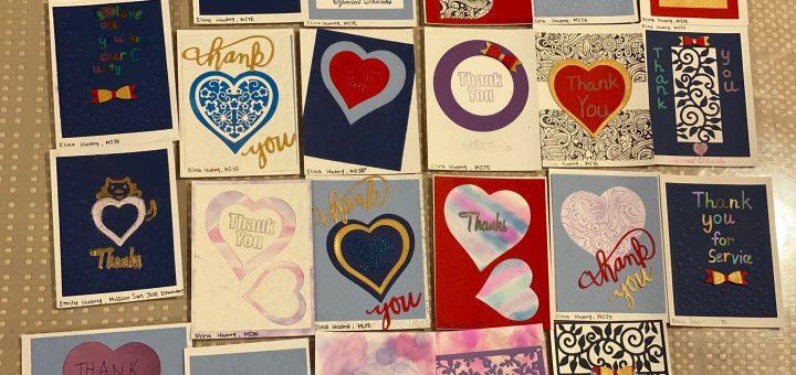 湾区华裔青少年绘制400张卡片 向一线医护人员致敬