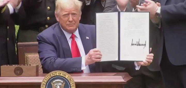 217W!签了!川普正式签警方执法行政令,绝不缩编警力和预算!