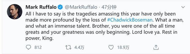 《黑豹》主演查德维克博斯曼去世年仅43岁