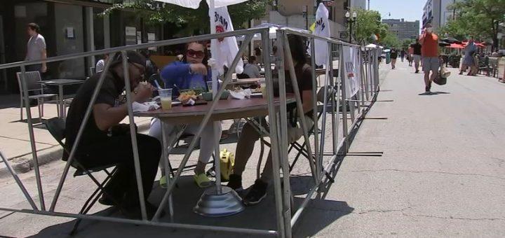 芝加哥新增街道餐饮项目,更多的湖畔餐馆在COVID-19指导方针下获准重新开业