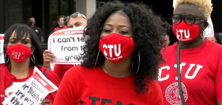 在教师罢工的威胁下,芝加哥公立学校将在新学年开始时采用远程教学