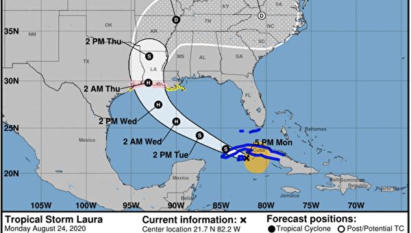 热带风暴马克减弱 劳拉预计发展为飓风