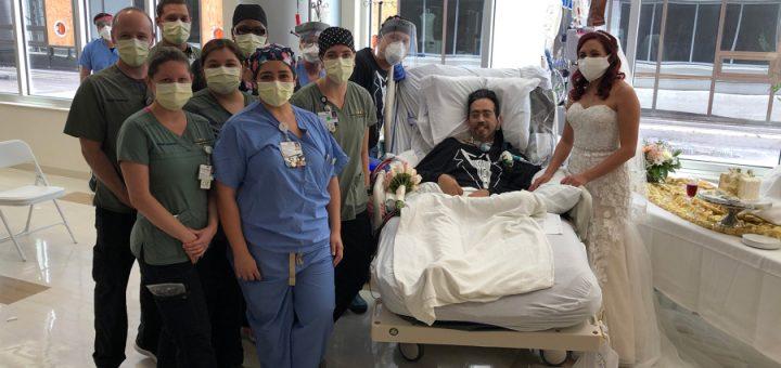 感动!德州染疫男子在ICU与未婚妻完成一场特殊的婚礼!