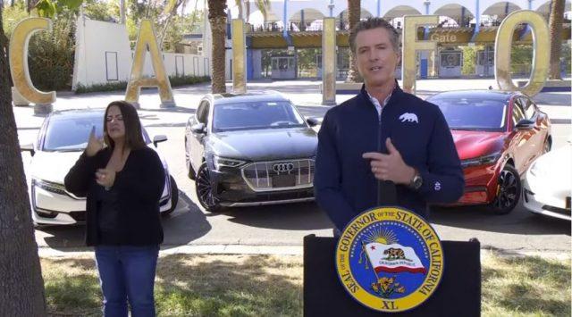 纽森推出重磅禁令 15年后加州将禁止销售燃油汽车