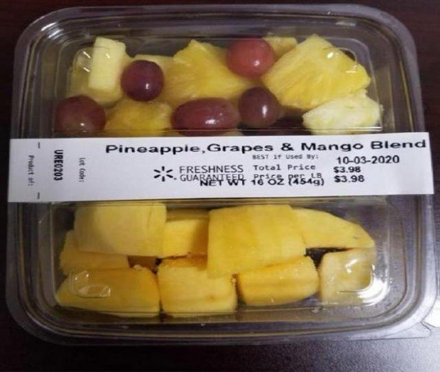 9个州沃尔玛鲜切水果产品被召回 恐遭致命病菌污染