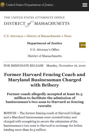 富二代的游戏!美国华裔富商150万美元行贿教练让孩子上哈佛