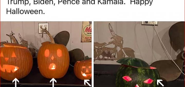 """苍天呐!美国警长因雕刻了西瓜而被开除公职…西瓜和南瓜都表示很无辜:""""我们不代表人类种族""""!"""
