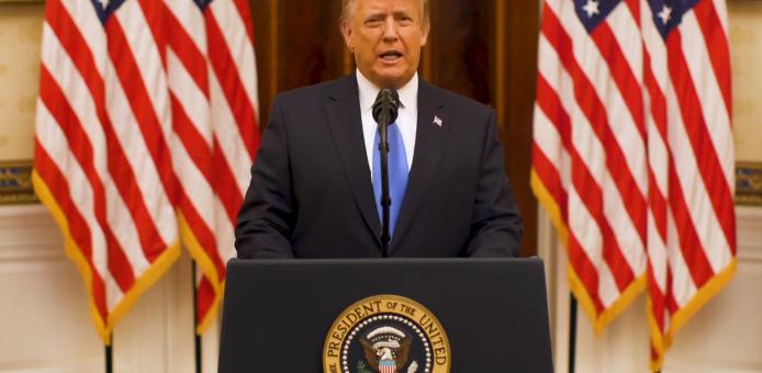 刚刚,特朗普发表告别演说:为美国及其所代表的一切而战!
