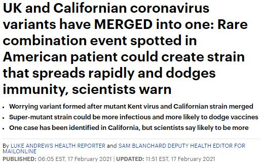 绝望! 2种变异病毒合体了 恐影响疫苗! 专家: 两层口罩不够 戴N95吧!