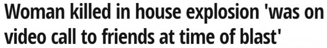 恐怖! 大妈正和朋友视频 自家别墅突然爆炸 瞬间屋毁人亡! 房主们当心!