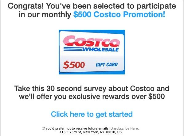 注意!Costco用截图提醒客户:小心这13个骗局!