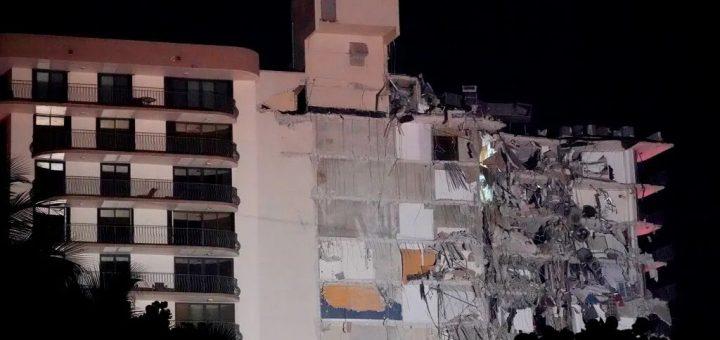 突发!迈阿密高层公寓突然坍塌 99人下落不明 建筑30年前就已下沉?