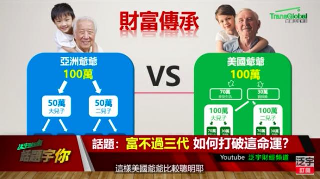 """专家告诉你如何打破华裔家庭""""富不过三代""""的宿命……家庭财富如何传承?"""