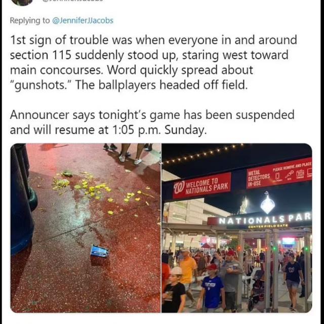DC国家球场外枪响三人受伤,上千球迷惊慌逃跑