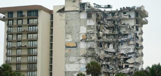 佛州坍塌公寓死亡升至24人 剩余楼体最早今天拆除 6消防员确诊新冠